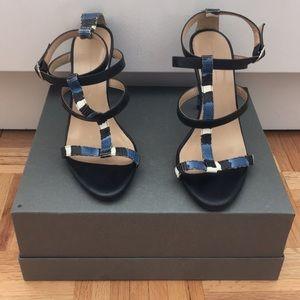 Zara Snakeskin Stiletto Sandal